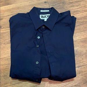Dark blue express medium men's dress shirt